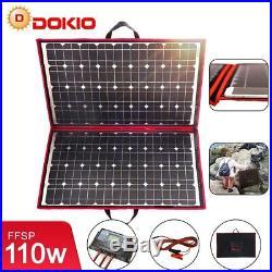 110W 18V Flexible Solar Panels Foldable + 12V Controller For Car Battery