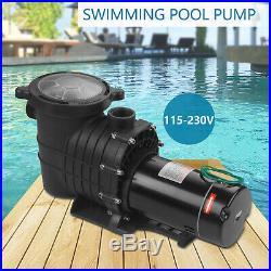 115/230V 2.0HP Swimming Spa Pool Pump Motor Strainer above Inground