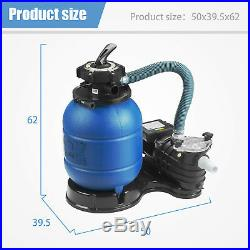 13 Sand Filter Above Ground 0.35HP Pro 2450GPH 10000GAL Swimming Pool Pump