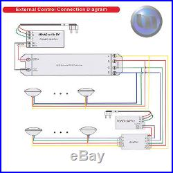 2 x Swimming Pool Spa LED Lights RGB +Controller +Power Supply + 10m Cable NEW