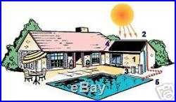 23,000 gal Inground Pool Solar Heater 3 Panel System