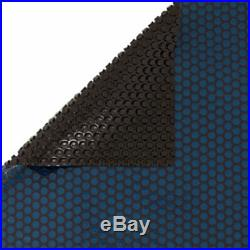 24' Round Aboveground Swimming Pool Solar Blanket Cover 12 Mil Blue / Black