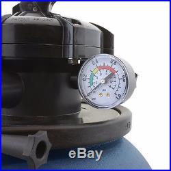 2400GPH 13 Sand Filter with Swimming Pool Pump UL List 10000GAL 4 Way New Kit Set