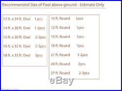 28x16.5' Solar Energy Swimming Pool Sun Heater Panel for Inground Above Ground