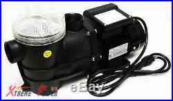 3/4 2400GPH Self Primming Above Ground Swimming Pool Pump with Strainer 1.5 NPT