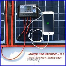 80W Solar Panel 12V/18V Flexible Foldble Solar Panel usb Portable Solar Cell Kit