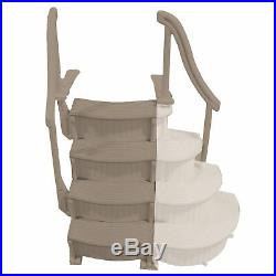 Confer CCX-AG 4 Step Above Ground Swimming Pool Ladder Stair Entry System, Beige