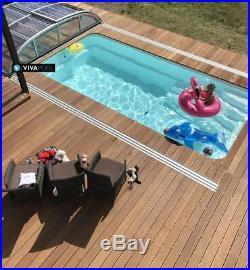 GFK POOL Schwimmbecken 6,20x3,00x1,50 Fertigbecken mit komplette Zubehoer SET