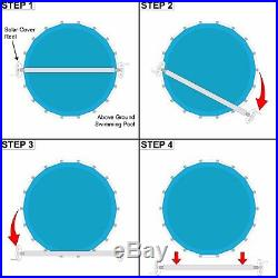 Horizon Ventures Above Ground Swimming Pool Solar Cover Reel For Up To 24' Wide