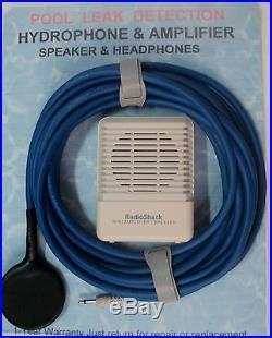Hydrophone, pool leak detection water resistant pool mics. UNDER GROUND LEAKS+AMP