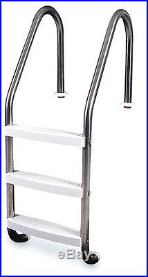 Hydrotools 87905 3 Step In-Ground Swimming Pool Stainless Steel Ladder Steps