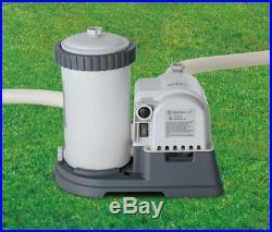 INTEX 2500 GPH Krystal Clear Swimming Pool Filter Pump with GCFI & V-Trap Vacuum