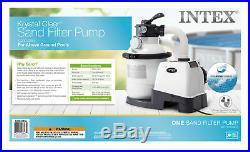 Intex 1200 GPH Krystal Clear Above Ground Pool Sand Filter Pump Set 26643EG