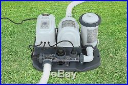 Intex 120V Krystal Clear Saltwater System Pool Chlorinator & Pump (Open Box)