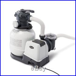 Intex 2100 GPH Above Ground Pool Sand Filter Pump with Automatic Timer 26647EG