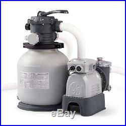 Intex 2100 GPH Krystal Clear Sand Filter Above Ground Swimming Pool Pump System