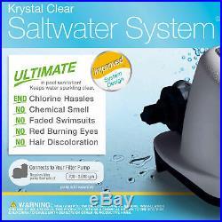 Intex 26669EG 120V Krystal Clear Saltwater System Swimming Pool Chlorinator