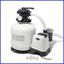 Intex 3000 GPH Above Ground Pool Sand Filter Pump with Deluxe Pool Maintenance Kit