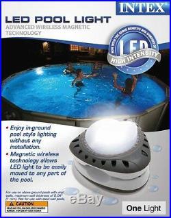 Intex Above Ground Energy Efficient LED Magnetic Pool Light 28687E (2-Pack)
