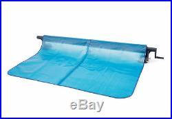 Intex Heavy Duty Aluminum Base Solar Above/Below Ground Pool Cover Reel, Black