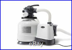 Intex Krystal Clear 2800 GPH Above Ground Swimming Pool Sand Filter Pump 26647EG