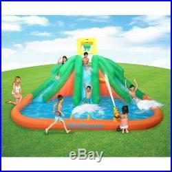 Kahuna Triple Monster Big Inflatable Backyard Kiddie Slide Water Park with Slide