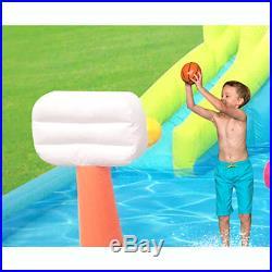 Kahuna Twin Peaks Outdoor Inflatable Backyard Kiddie Pool & Slide Water Park