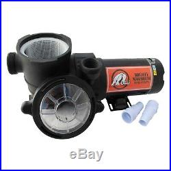 Mighty Mammoth Above Ground Pool Pump 1.5HP & 2HP High Performance & Flow Rate