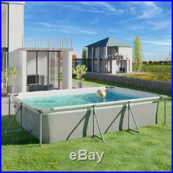 NEW Garden Swimming pool rectangular with pump outdoor swimming pools Paddling