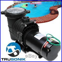 NEW TruSonik 2 HP In-Ground Swimming Pool Pump Motor Strainer Above Inground