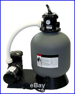 Radiant 19 Inch Above Ground Swimming Pool Sand Filter System with 1 HP Pump