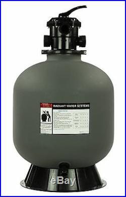 Rx Clear Radiant 24 Inch In-Ground Swimming Pool Sand Filter with 6-Way Valve