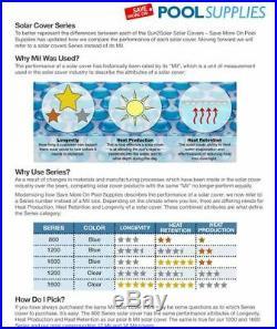 Sun2Solar 24' Round Blue Swimming Pool Solar Heater Blanket Cover 800 Series