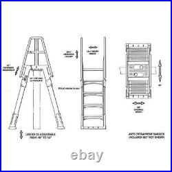 Vinyl Works A Frame Ladder with Barrier for Swimming Pools 48-56 Tall (Open Box)
